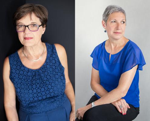 Deux portraits de femmes de 50 ans