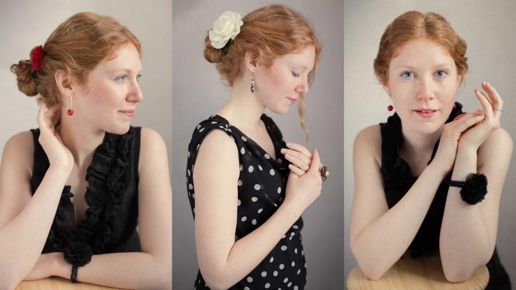 Trois portraits de Cécilia
