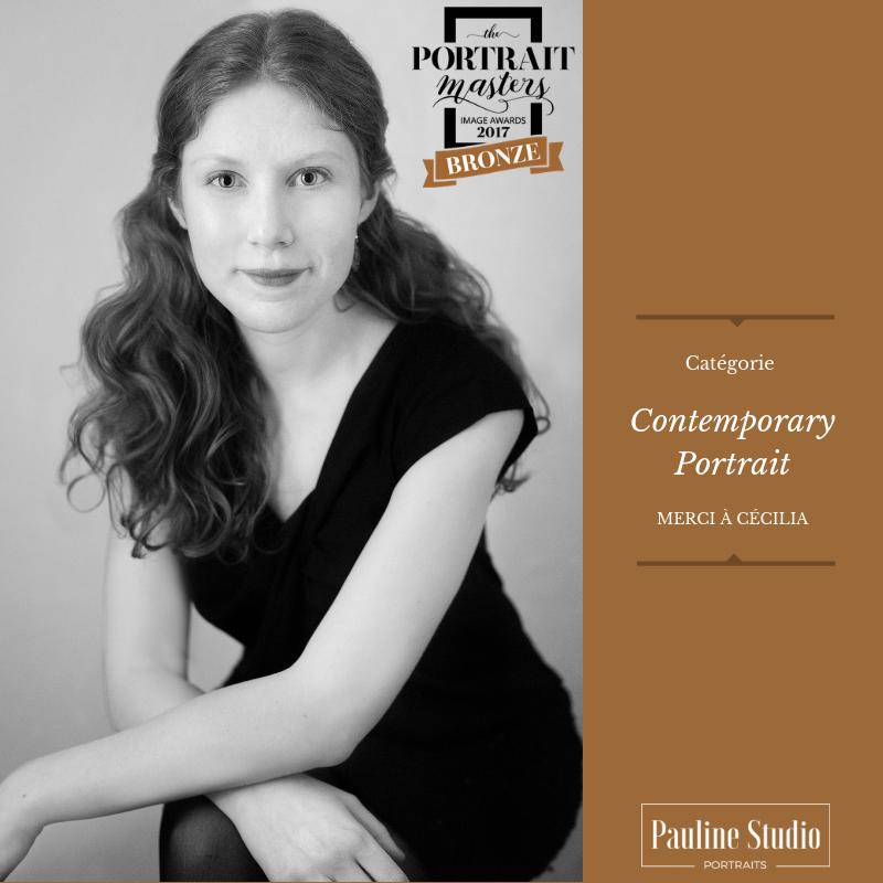 Accréditation - Portrait de Cécilia ayant obtenu un mérite de bronze aux Portrait Masters 2017