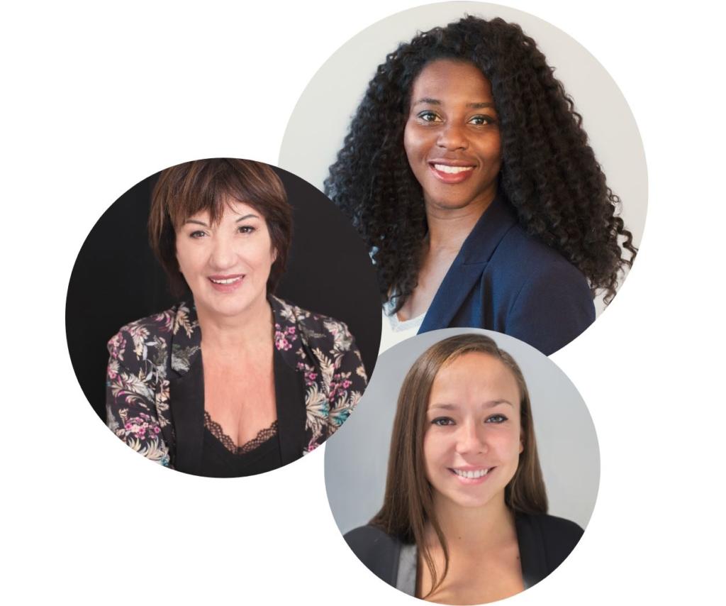 Trois portraits professionnels